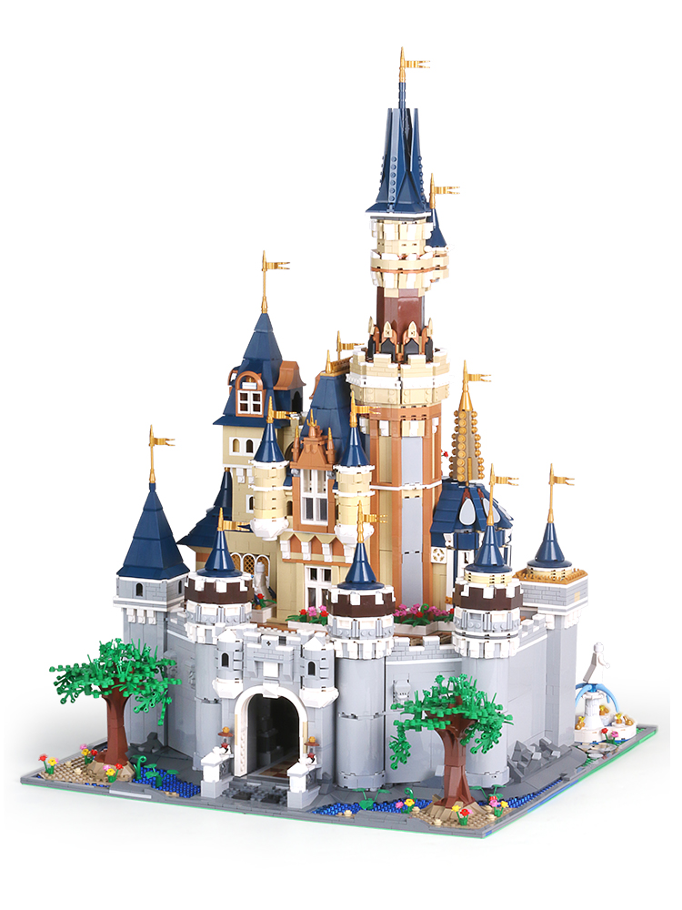 Disneys Cinderella Princess Castle LEPINED City Compatible With 71040 Building Blocks Bricks Educational Toys For Children Gifts image