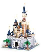 דיסני הסינדרלה נסיכת טירה LEPINED עיר תואם עם 71040 בניין בלוקים לבנים חינוכיים צעצועים לילדים מתנות