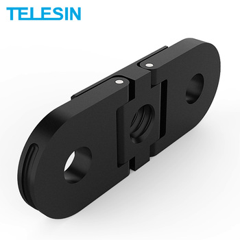 TELESIN Tripod Mount Adapter For GoPro Hero 9 Hero 8 Mount Base for 1/4'' Tripod Action Camera Tripod Monopod Adapter handheld gimbal adapter switch mount plate for gopro hero 8 camera with balance counter weight selfie tripod for dji osmo mobile