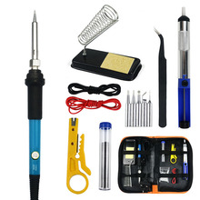 Electric Soldering Iron Suit Soldering Iron Kit 220 110v60w American Standard British Standard Cloth Bag Set
