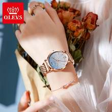 OLEVS nouvelles femmes mode Quartz montre haut marque étanche de luxe femmes montres en acier inoxydable bracelet Date horloge dame