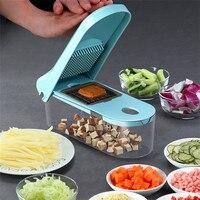VOGVIGO Multifunktions 8 In1 Lebensmittel Gemüse Salat Obst Schäler Cutter Slicer Dicer Zwiebel Lebensmittel Chopper mit Container Küche Werkzeug auf