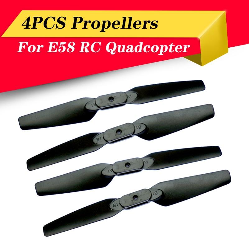 Высококачественные быстросъемные складные пропеллеры E58, запасные части для радиоуправляемого дрона, квадрокоптера, лезвия CW CCW 4 шт./компл.