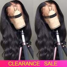 Peluca ondulada de 30 pulgadas con encaje Frontal transparente, cabello humano ondulado, barato, parte T, Remy, 180%, brasileño