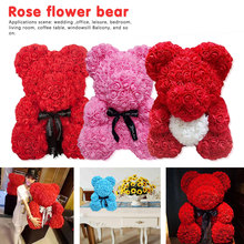 New Red Bear Rose Valentines Day Gift 25cm HOT Teddy Artificial for Woman Decoration Christmas