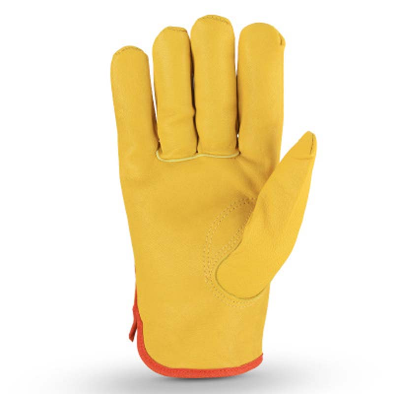 Labor Protection Garden Gloves Five-finger Outdoor Comfortable Wear-resistant Leather Gloves
