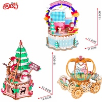 Holz puzzle 3D Weihnachten dekoration schreibtisch ornament montage laser schneiden creation set Weihnachten Neue jahr geschenk modell kit