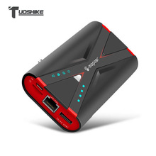 TUOSHIKE 7800mAh Banco de Potência Wi fi 2.1A fast charge para Iphone Xiaomi Samsung Huawei Android Telefone Móvel 3G 4G Relé Powerbank