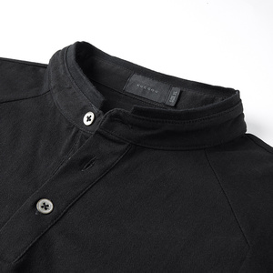 Image 5 - KUEGOU 2020 Spring Cotton Button Plain White T Shirt Men Tshirt Brand T shirt Long Sleeve Tee Shirt Male Clothes Plus Size 1306
