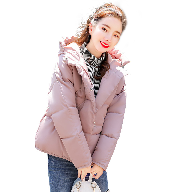Winter Parkas women 2019 Plus Size 2XL Coat Jacket Hooded Thick warm Short Outerwear Female Slim Cotton Padded Basic Tops
