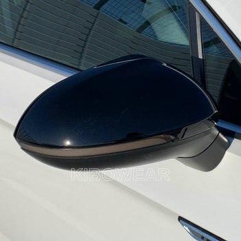 Czarna strona osłony lusterek do VW Passat B8 Variant Arteon Caps 2016 2017 2018 2019 2020 (błyszcząca perła czarna) do volkswagena