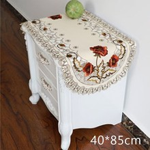 Vintage bordado tela Rectangular boda mantel Banquete de fiesta del evento hogar Decoración mesa cubierta nueva