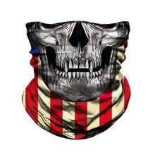 JAER-Pañuelo de calavera para ciclismo de montaña, máscara deportiva para el cuello, senderismo y Pesca