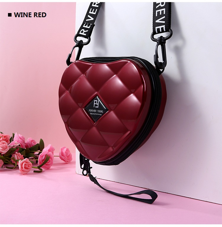 H89580f8bd1aa40c1bdf00e18980c7a67f - Fashion Luxury HandBags Heart Shaped PVC Mini Shoulder Bag for Woman Fashion Designer Personality Small Box Women Purses
