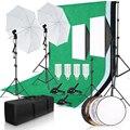 Фотостудия софтбокс комплект освещения с 2 6x3 м фоновой рамкой 3 шт. фоны штатив Стенд отражатель доска зонтик