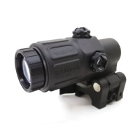 hunting G33 Airsoft 3X Magnifier with Switch to Side Quick Detachable QD Mount for black sand and red color Hunting sight