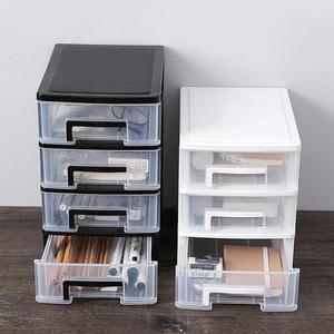 2/3/4/5 Layers Plastic Transparent Drawer Type Desktop Storage Box Home Office Document Debris Holder Makeup Jewelry Organizer
