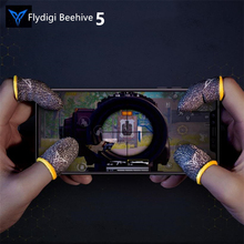 Flydigi 벌집 게임 컨트롤러 Sweatproof 장갑 5 세대 전화 게임, PUBG 및 기타 전문 터치 스크린 엄지 손가락