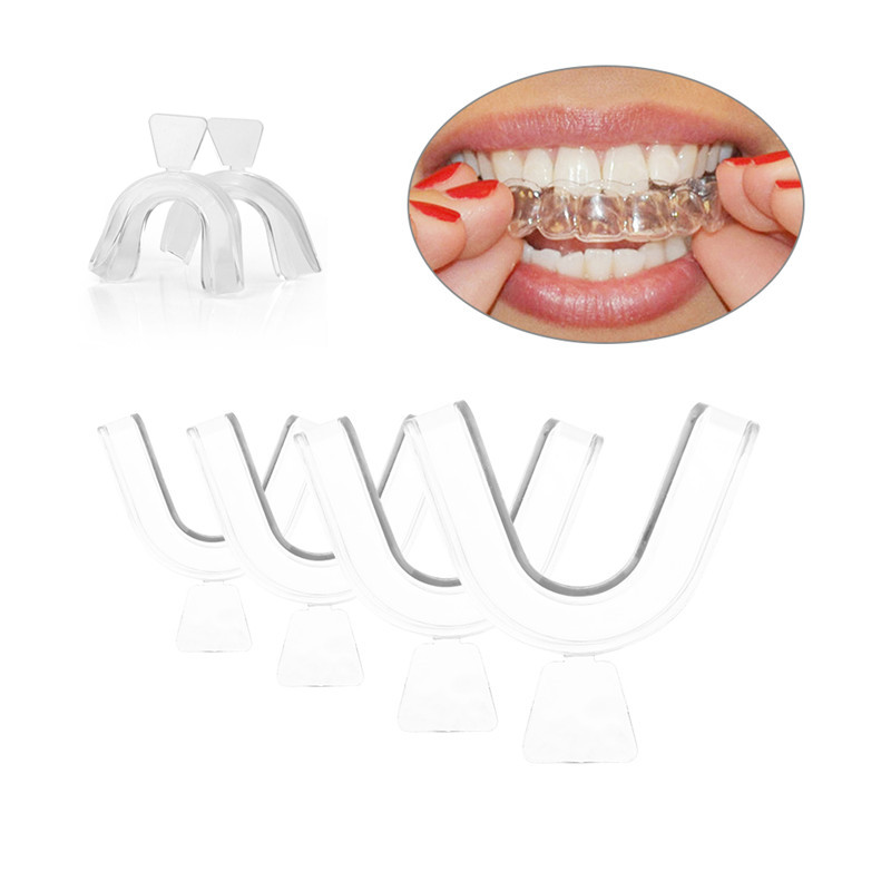 1Pc Thermoforming Moldable Mouth Dental Teeth Whitening Trays Silicone Teeth Cover Night Mouth Guard Accessory Mouthguard Tray