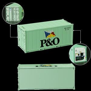 Image 4 - 6pcs שונה מעורב 20ft היי קוביית Refrigerater 1: 87 20 רגליים מכולות דגם משא מיכל מכוניות