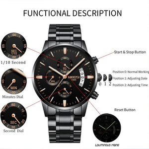 Image 4 - NIBOSI Relogio Masculino Mens Watches Top Brand Luxury Famous Mens Fashion Casual Dress Watch Military Quartz Male Wristwatches