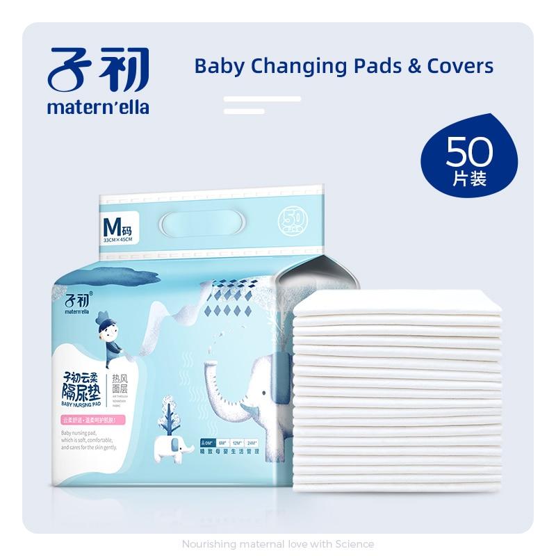 Mater'ella Baby Disposable Diaper Paper Mat Nursing Pad For Adult Child Baby Absorbent Waterproof Diaper Changing Mat