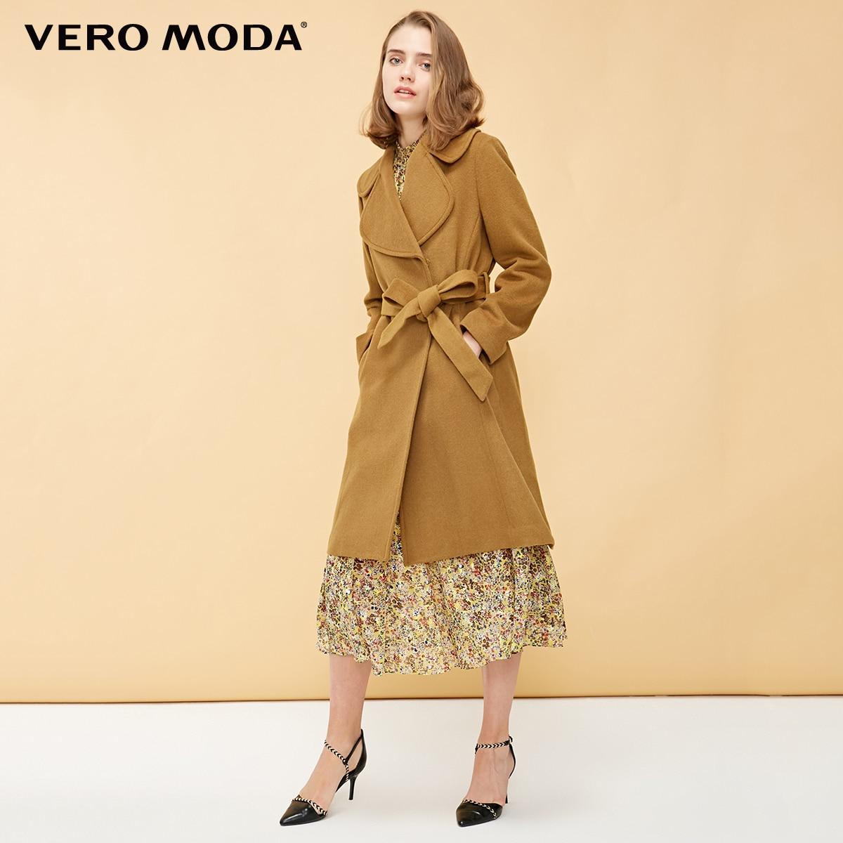 Vero Moda Women's 52% Wool Invisible Snap Wool Coat | 318327549
