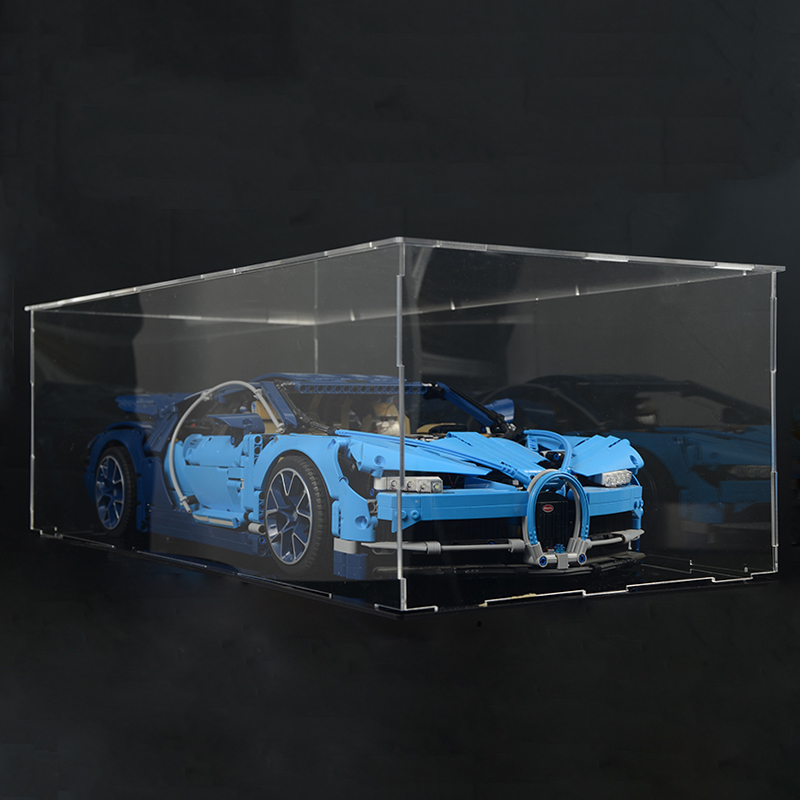 Acrylic Display Box 4789 42039 42056 42096 42083 Technology Series Bugatti Chiron Super Racing Car 20001 <font><b>23002</b></font> 20086 23006 image