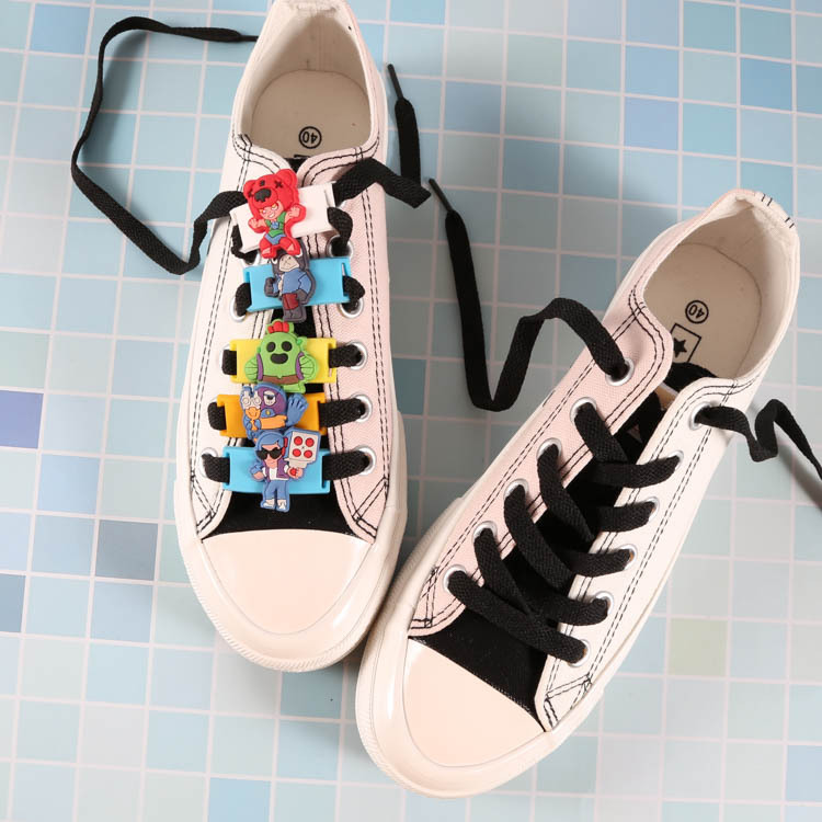 Brawl Stars Games 2pc PVC Shoe Charms Lovely Cartoon Shoe Decoration Buckles For Croc Jibz Kids Party X-mas Gift 2020 New Style