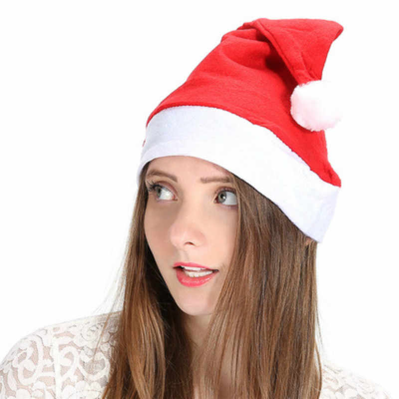 1PCS Christmas Caps Christmas Xmas Holiday Hat Cristmas Decoration Santa Hats  Baby Christmas Hat  Non-woven Fabrics