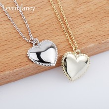 Luxury Real 925 Sterling Silver Love Necklace Women Clavicle Necklace Gold Peach Heart Pendant Necklace Fine Jewelry(China)