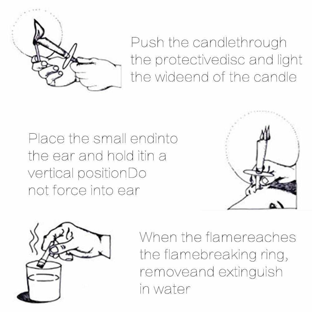10 шт. ушные свечи ушной серы чистого удаления натуральный пчелиный прополис Индиана терапии аромат свечи свеча-конус для релаксации