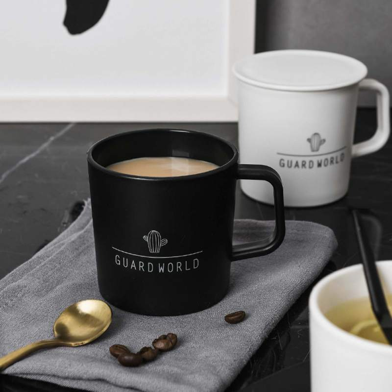 Nordic Coffee Cup With Lid Simple Water Cup Breakfast Milk Cup Home Kitchen Drinkware Milk Cups With Lid Plastic Mugs
