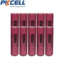 10pcs PKCELL 18650 3.7v lithium batteries li ion rechargeable battery ICR 18650 2200mah Batteries  For Led Flashlight