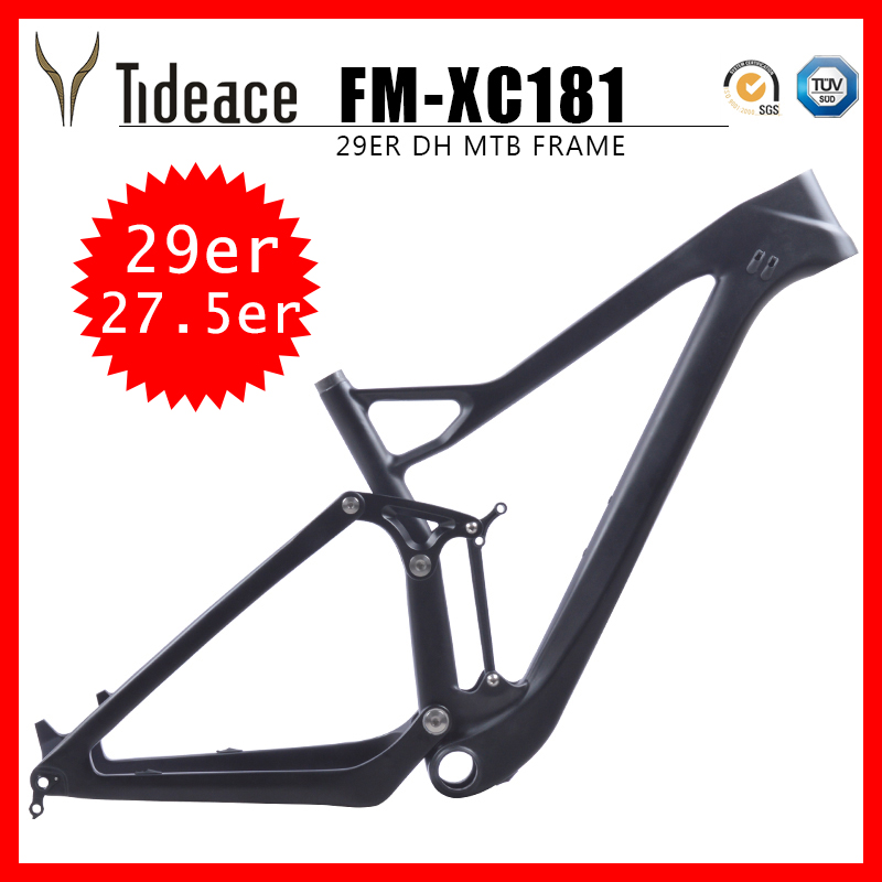 New XC Carbon Mountain Bike Frame 29er\27.5er MTB Full Suspension Frame 29er Plus/27.5er Plus Bicycle Frame Color Customization