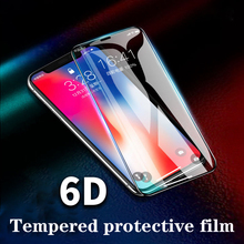 New 6D Explosion-proof protective film Anti-oil Anti-fingerprint For iPhone 6/6 7/8 X/XS XS MAX XR 2pc