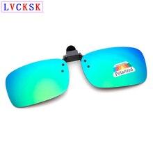 Fashion Clip on Polarized Sunglasses Lens Women Men Dirver Flash Mirror lens Sun