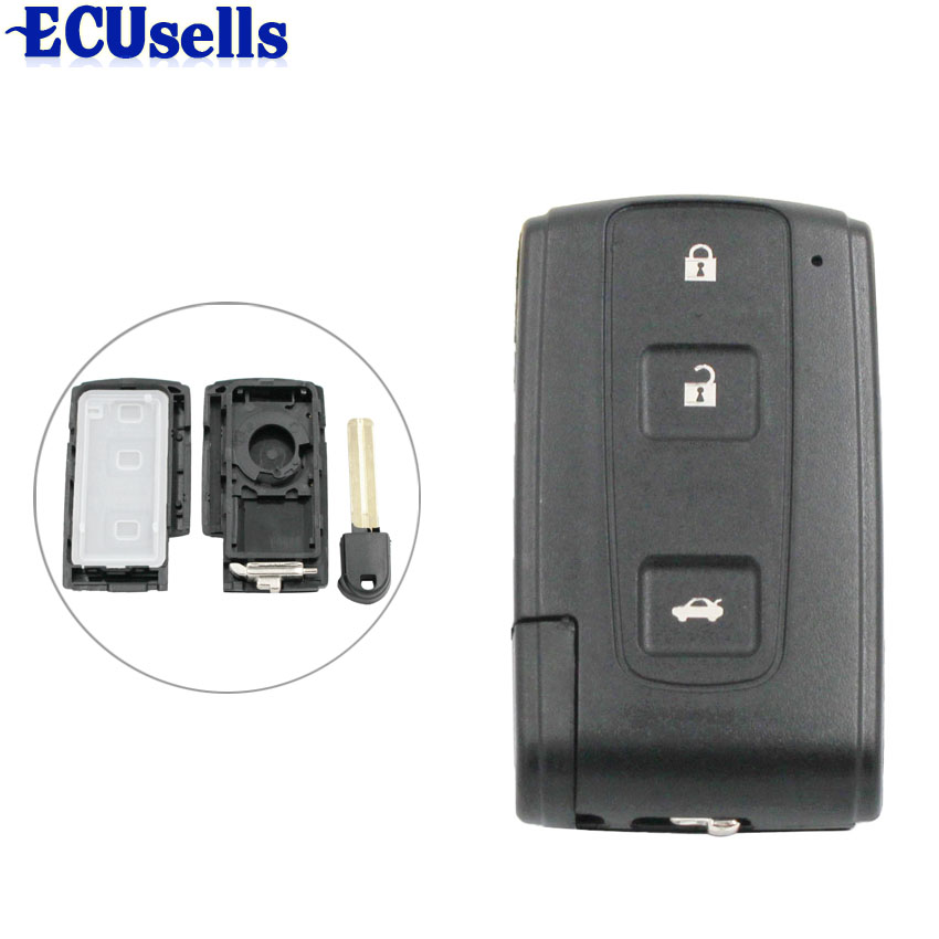 3 Buttons Smart Remote Key Case Refit Shell For Toyota Crown Avensis Verso Prius