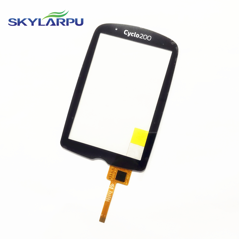 Skylarpu Capacitive Touch Panel For Mio Cyclo200,Cyclo 200 GPS Cycle Computer Touch Screen Digitizer Panel Repair Replacement