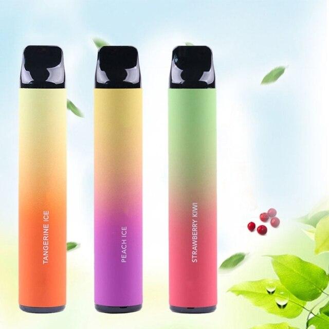 2021 New Fruits Flavor 1600 Puffs Disposable Vapor Hookah Electronic Shisha Stick Pen Safe Vaporizer Mini Cigarettes Windproof