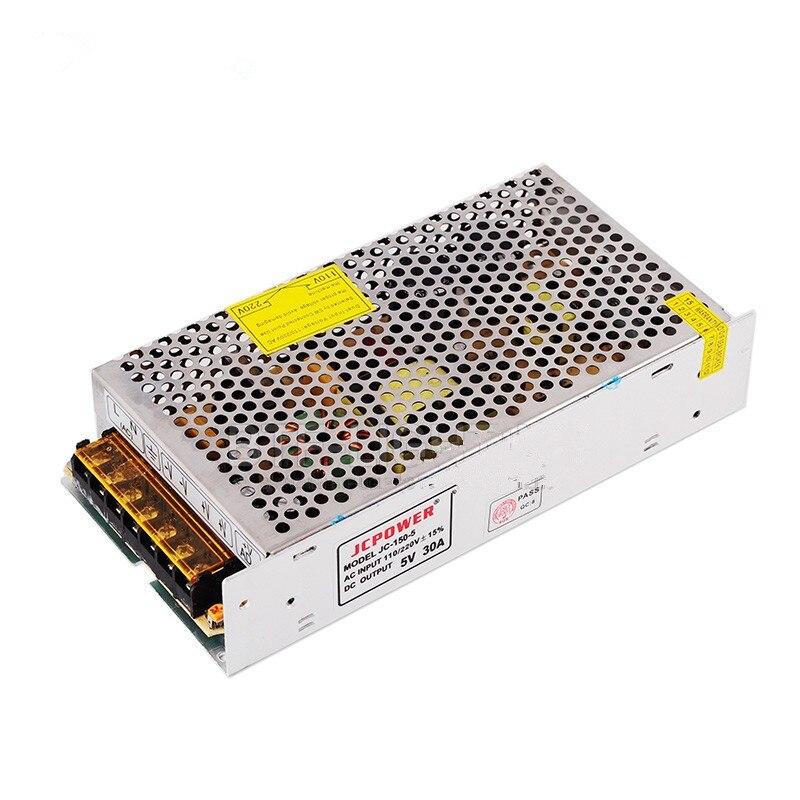 5V 30A 150W Универсальный Регулируемый адаптер переключения источника питания для WS2812B WS2811 APA102 Светодиодные ленты светильник AC110V/220V постоянног...