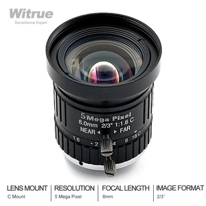 Witrue HD 5MP CCTV объектив камеры 8 мм F1.6 Диафрагма 2/3