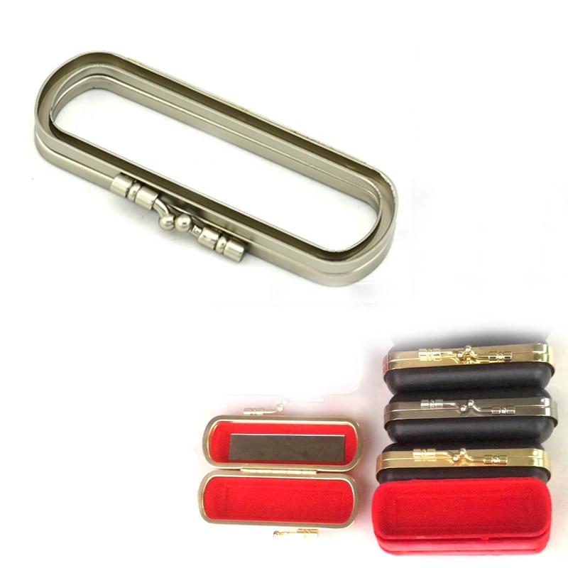 10cm Oval Bag Box Material Nickel Gold Head Coin Purse Frames Diy Accessaries Purse Bag Frame Kiss Clasp Plastic Purse Frame