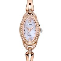 France Luxury Brand AILUO Women's Watches Japan MIYOTA Quartz Diamond Sapphire Watches Ladies Bracelet Wristwatches A7117