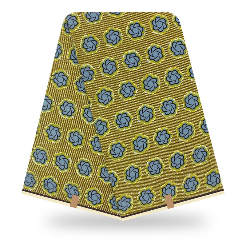 African Wax Fabric Cotton Material High Quality Ankara Fabric Sewing Veritable Dutch Real Dutch Wax 6yard For Africab Clothing