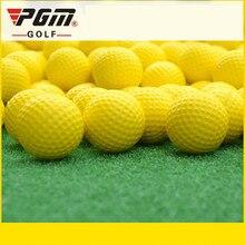 5 шт/лот PGM мяч гольф продукты ПУ гольф Крытый Софтбол желтый пол Q008