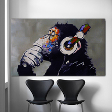 купить SELFLESSLY Wall Art Canvas Painting Thinking Gorilla Oil Painting Printed On Canvas For Living Room Animal Decoration Unframed по цене 255.31 рублей
