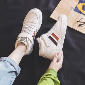 Image 1 - Soprts baskets confortables, antidérapantes, chaussures montantes à lettres Motion, chaussures vulcanisées pour femmes, nouvelle collection printemps 2020