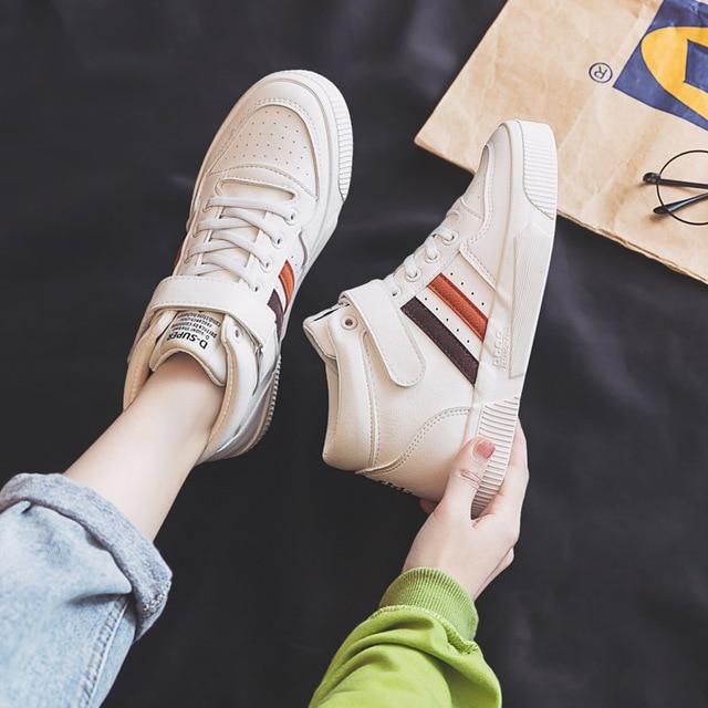 Soprts baskets confortables, antidérapantes, chaussures montantes à lettres Motion, chaussures vulcanisées pour femmes, nouvelle collection printemps 2020