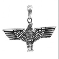 S925 sterling silver pendant for Boy Thai silver hipster male hip hop boy flying eagle pendant man's pendant